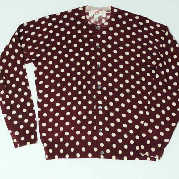 384141bc0424a0 Comme des Garcons Sweaters - Comme Des Garcon H M Red Polka Dot Cardigan  Sweate